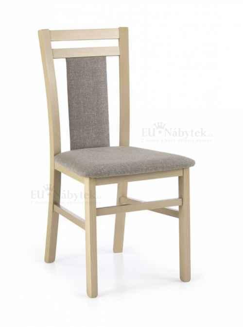 Jídelní židle HUBERT dub sonoma/šedá