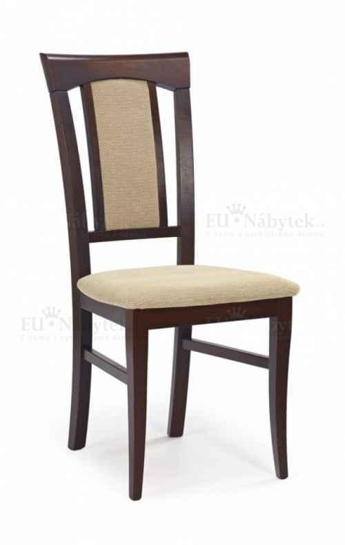 Jídelní židle KONRAD tmavý ořech/béžová