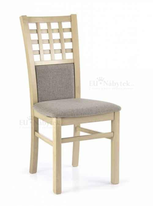 Jídelní židle GERARD 3 dub sonoma/šedá