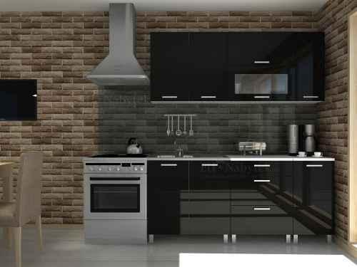 Kuchyňská linka TIBOR 180 černá