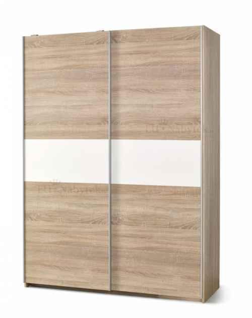 Šatní skříň LIMA S-1 bílá/dub sonoma