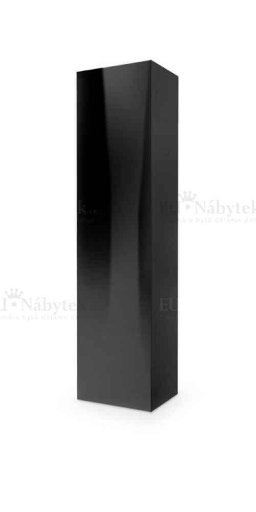 Skříňka LIVO černá vysoký lesk