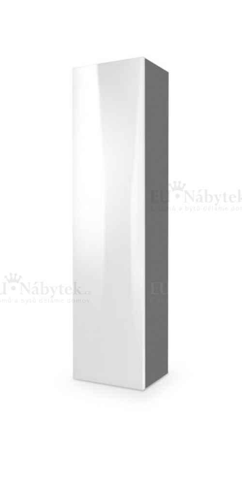 Skříňka LIVO bílá/šedá vysoký lesk