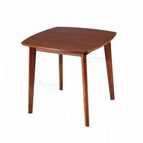 Jídelní stůl, 80x80 MDF + masiv, ořech, ROSPAN