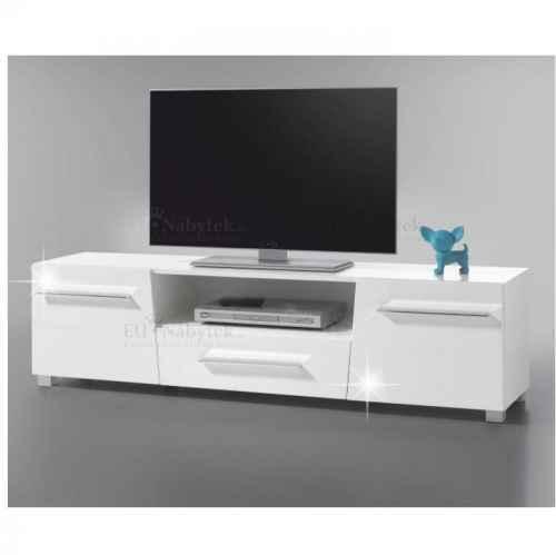RTV stolek, bílá s extra vysokým leskem HG, STRAGY TYP 6
