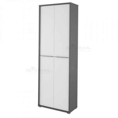 Vysoká skříň, grafit / bílá, Riom TYP 5