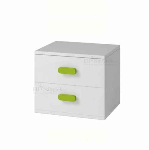 Noční stolek, bílá, SVEND TYP 22