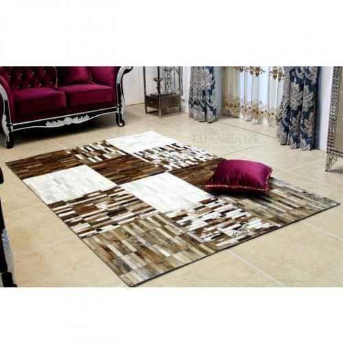 Luxusní koberec, pravá kůže, 141x200 cm, KŮŽE TYP 4