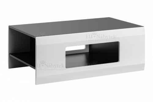 Konferenční stolek CLEOPATRA grafit / bílá