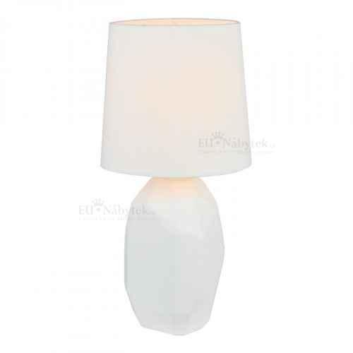 Keramická stolní lampa, bílá, QENNY TYP 1