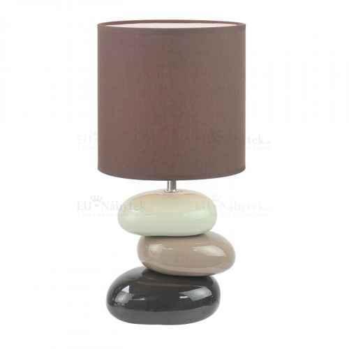 Keramická stolní lampa, kávová, QENNY TYP 5