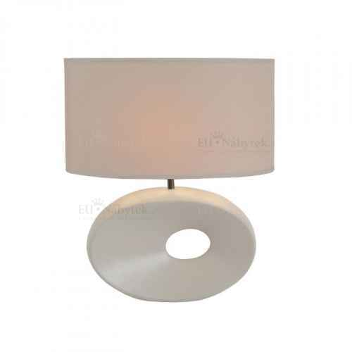 Keramická stolní lampa, bílá, QENNY TYP 9