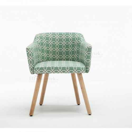 Designové křeslo, vzor zelená, DIPSY