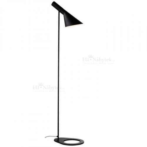 Stojací lampa, černý kov, CINDA TYP 2