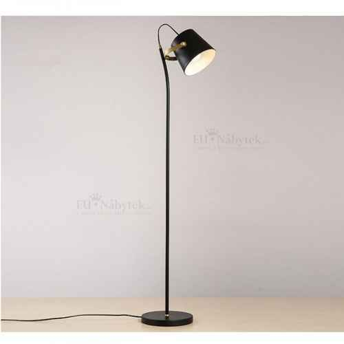 Stojací lampa, černá / bronz, CINDA TYP 3