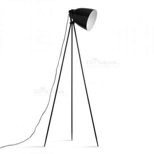 Stojací lampa, černý kov, Cinda Typ 5