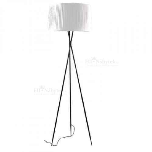 Stojací lampa, černý kov / bíle stinítko, CINDA TYP 10