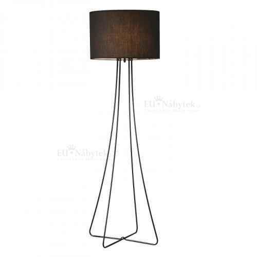 Stojací lampa, černý kov / látka, Cinda Typ 12
