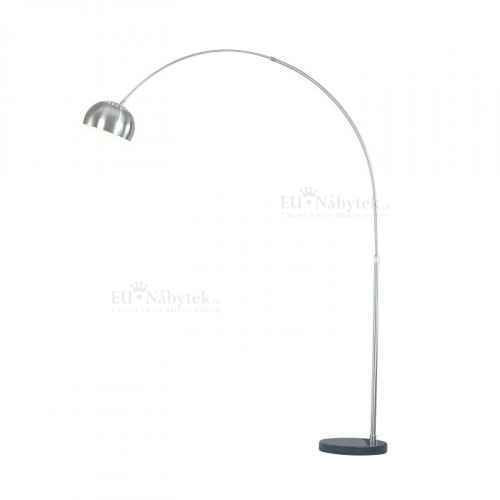 Oblouková lampa, ocel / černý mramor, CINDA TYP 16