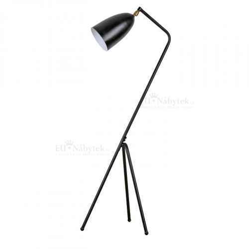 Stojací lampa, černý kov, Cinda Typ 23
