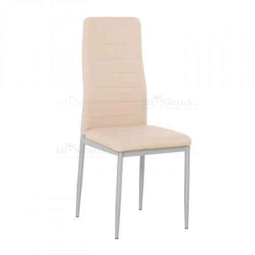 Židle, ekokůže pudrová růžová / šedý kov, COLETA NOVA