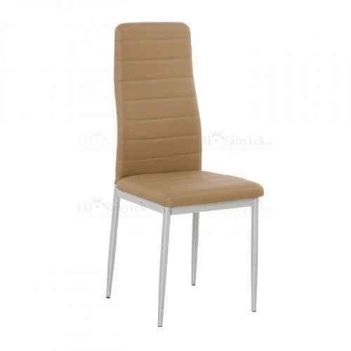 Židle, ekokůže karamel/kov šedá, COLETA