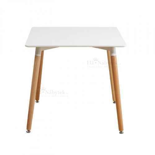 Jídelní stůl, bílá + buk, DIDIER NEW 2