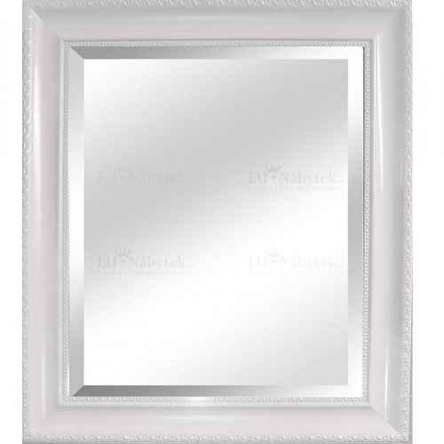 Zrcadlo, dřevěný rám bílé barvy, MALKIA TYP 2