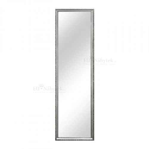 Zrcadlo, stříbrný dřevěný rám, MALKIA TYP 3