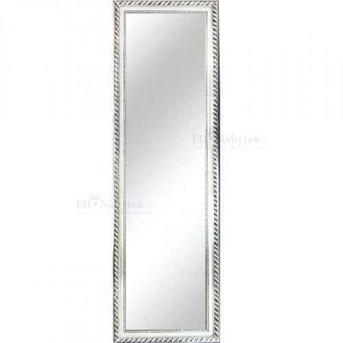 Zrcadlo, dřevěný rám stříbrné barvy, MALKIA TYP 5