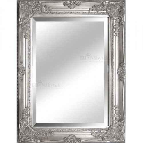 Zrcadlo, stříbrný dřevěný rám, MALKIA TYP 6