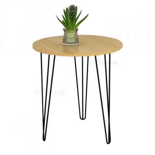 Příruční stolek, dub / černá, KALEB