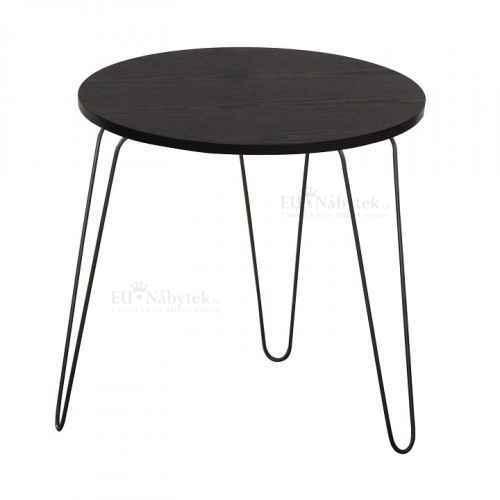 Příruční stolek, černý dub / černá, RONIN