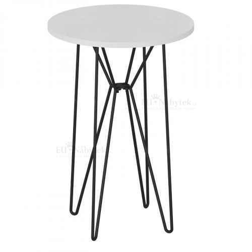 Příruční stůl, bílá/černá RUBEN