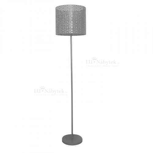 Stojací lampa, šedá, JADE TYP 9