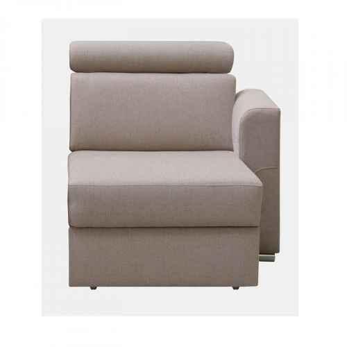 1-sed 1 BB P na objednávku k luxusní sedací soupravě, béžová, pravý, MARIETA