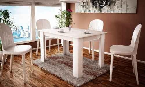 Jídelní stůl SANDRA 120 bílá