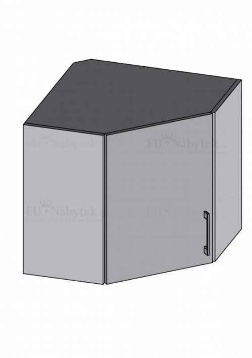 Kuchyňská skříňka DIAMOND, horní skříňka rohová, fialová