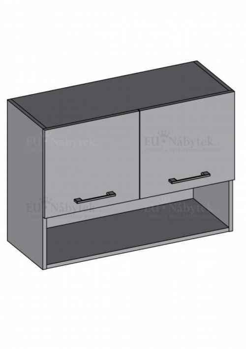 Kuchyňská skříňka DIAMOND, horní skříňka s policí 100 cm, bílá - diamond skříňky bílá