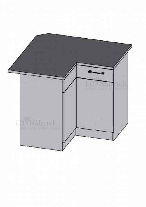 Kuchyňská skříňka DIAMOND, spodní rohová, bordó - diamond skříňky bordó