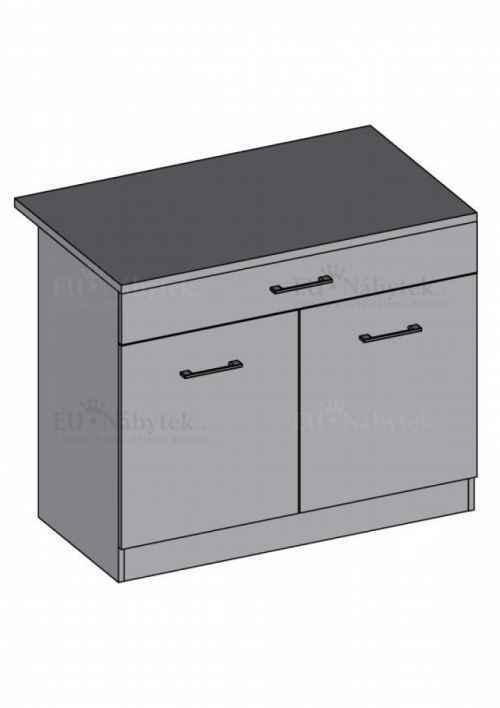 Kuchyňská skříňka DIAMOND, spodní dvoudvéřová 80 cm, bordó - diamond skříňky bordó
