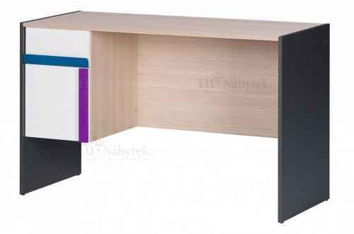 PC stůl IKAROS grafit / bílá / borovice avola