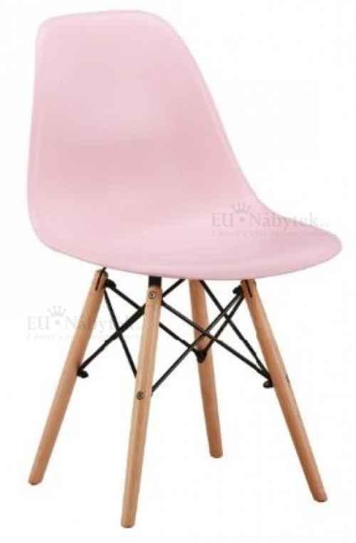 Skandinávská židle AMI růžová