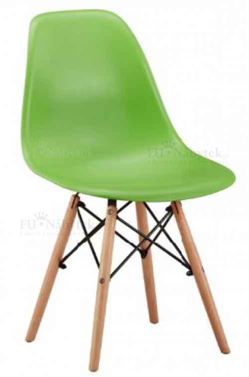 Skandinávská židle AMI zelená