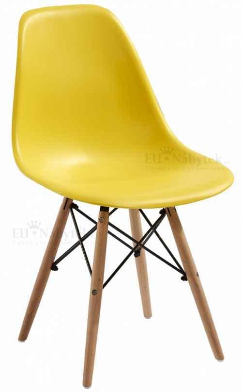 Skandinávská židle AMI žlutá