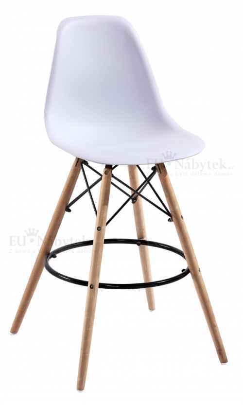 Skandinávská barová židle AMI hoker bílá