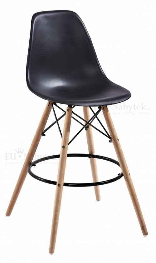 Skandinávská barová židle AMI hoker černá