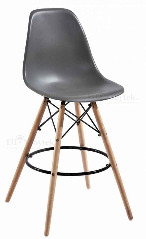 Skandinávská barová židle AMI hoker tmavě šedá