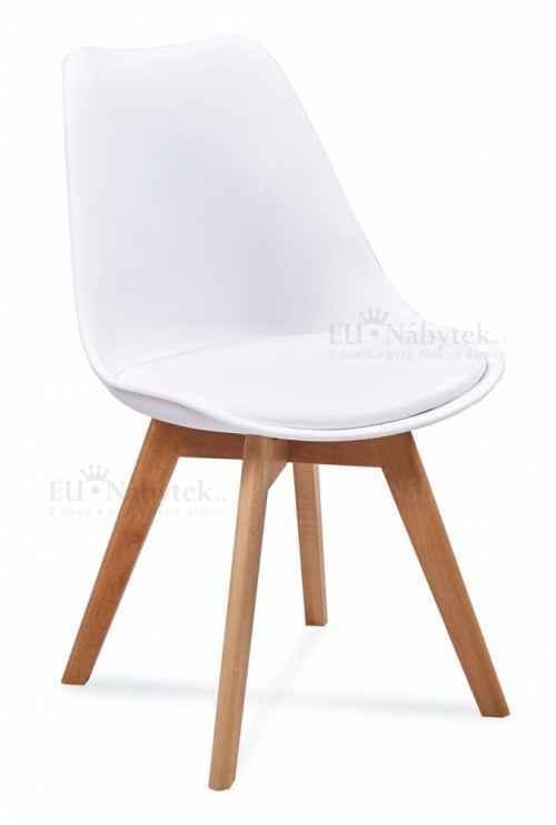 Skandinávská židle FORD bílá