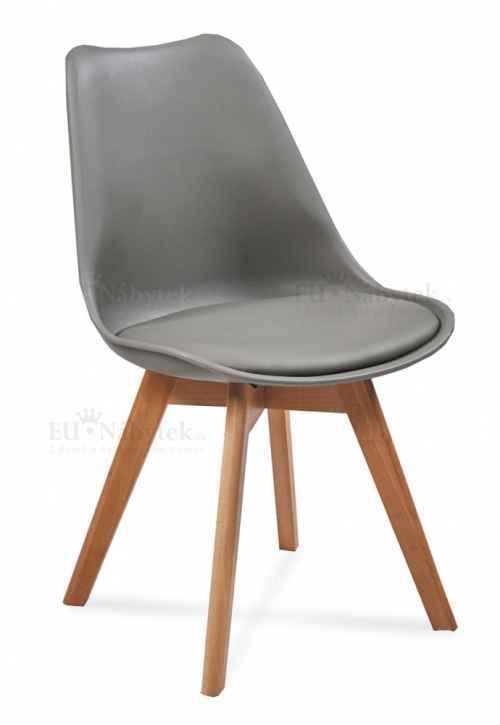 Skandinávská židle FORD tmavě šedá